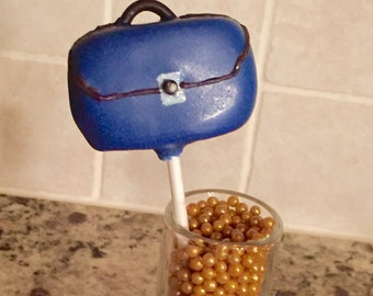 BON VOYAGE Cake Pops, Luggage Cake Pops, Going off to College Cake Pops,