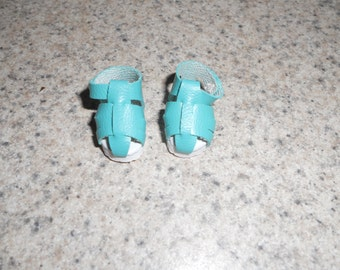 Turquoise Iris Sandals 23mm Shoes fits Robert Tonner Sad Sally Dolls