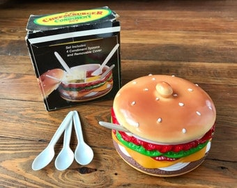 Awesome Cheesburger Condiment Set