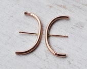 Minimalist Rose Gold Ear Suspenders, 14K Gold Filled Suspender Earrings, Gold Ear Cuff, Rose Gold Wrap Hoop,  Huggie Earring, Hook Ear Bar