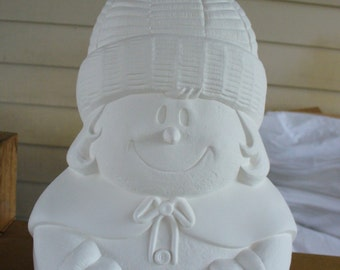 Ceramic Bisque Snowlady
