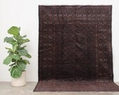 ZIAR 6x9 Hand Knotted Afghan Wool Rug