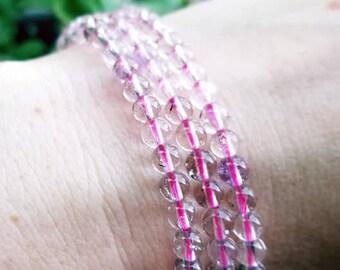 Super 7 bracelet, Melody stone, Sacred 7 stone, Super 7 gemstone bracelet, Super 7 bead, Super 7 crystal, Amethyst Cacoxenite crystal