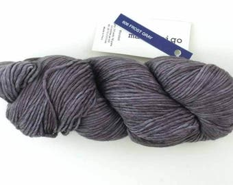Malabrigo Worsted, Merino Wool Yarn, Frost Gray, aran weight knitting yarn, color 606