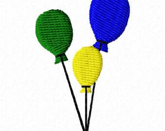 Balloons Embroidery Design - Instant Download
