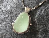Sea Glass Pendant Necklace in Seafoam Beach Glass Jewelry