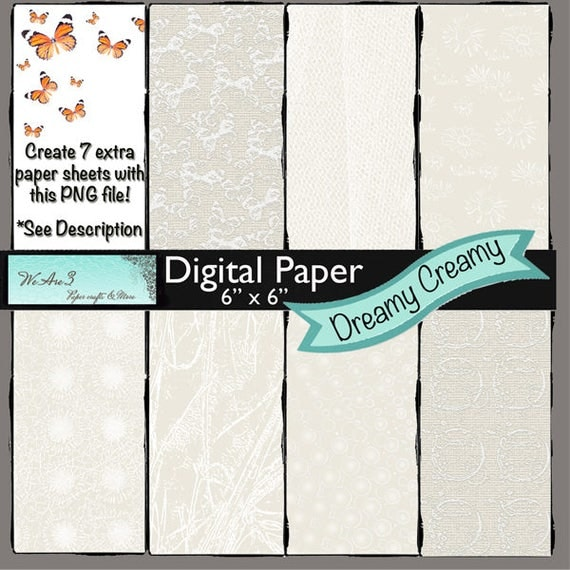 We Are 3 Digital Paper, Dreamy Creamy