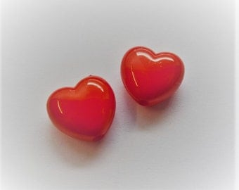 10mm Candy Heart Beads, 30CT. J26
