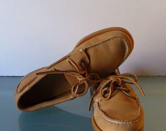 Vintage L.L. Bean Boat Shoes  Size 7.5 M
