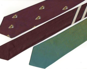 3 vintage color change neckties, look different colors in different light conditions, shimmery, wacky