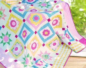 WASHDAY DAISIES | Quilt Patterns | PDF Pattern | Floral Quilts | Applique Quilts | Happy Quilts | Modern Quilts