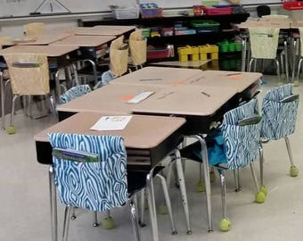 16 Inch VALUE Chair Pockets Seat Sacks Teacher Classroom Organization Elementary School Seat Sacks Covers Expandable Pocket Chevron Duck