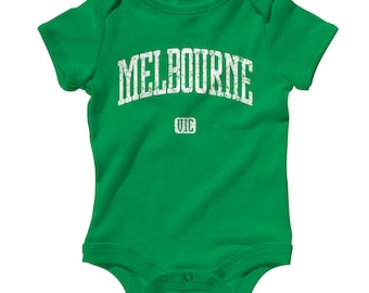 Baby One Piece - Melbourne Australia - Infant Romper - NB 6m 12m 18m 24m - Baby Shower Gift, Melbourne Baby, Melbournian, Victoria, Aussie