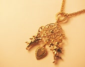 Vtg 1928 Jewelry Co. Victorian style gold pendant necklace