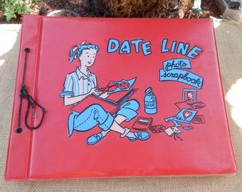 1950's Date Line Photo Scrapbook  ~  Date Line Photo Scrapbook