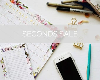 Seconds Sale - Notepads