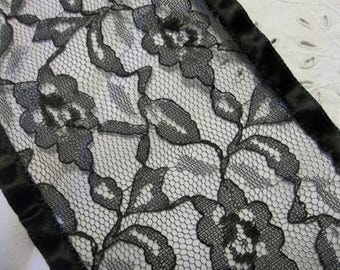 """EXTRAORDINARY Antique French Alencon Silk Lace...Lace 4.5"""" Wide by  1 Yards..PERFECT...New Old Stock...Free Shipping"""