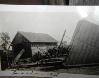 Vintage Snapshot Photo - Ruins - Tornado Damage