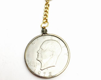 One 1973 USA dollar Keychain Coin Collectors GIft, Item No. M018