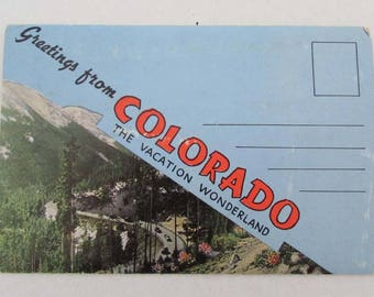 Vintage Fold-Out Picture Booklet Greeting From Colorado E. C. Kropp US Travel Souvenir