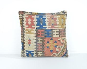 Kilim pillow cover, kp1744, Kilim Pillow, Turkish Pillow, Kilim Cushions, Kilim, Moroccan Pillow, Bohemian Pillow, Turkish Kilim