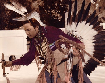 Native American Sioux Chief in Ceremonial Dance