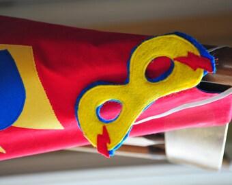 Custom superhero personalized cape and mask