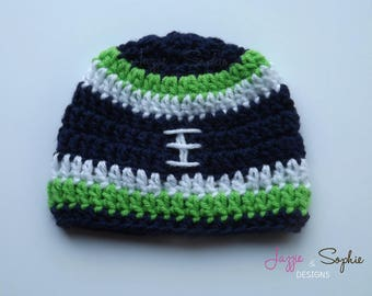 Seattle Seahawks Inspired Football Beanie
