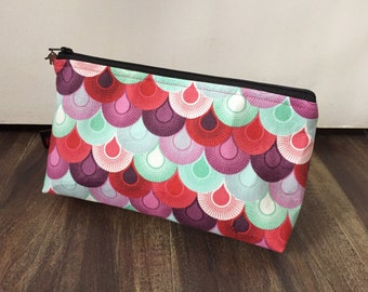Handmade Tula Pink Chain Mail Makeup Pouch