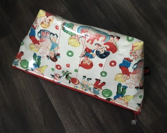 Handmade Retro Kids & Candy Large Makeup Bag