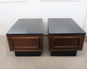 Mid Century modern, vintage Adrian Pearsall end tables