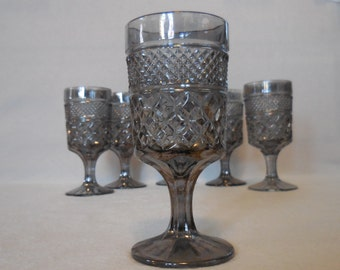 Wexford Smoke / Pewter Mist/ Water Goblets by Anchor Hocking