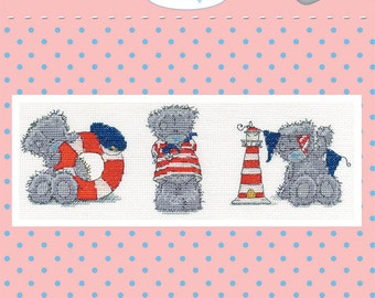 Three Little Sailors - DMC Tatty Teddy Counted Cross Stitch Kit