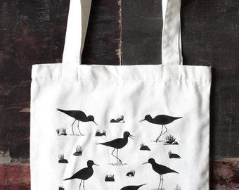 Kaki Black Stilt Limited Edition Tote Bag