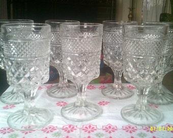 Seven Vintage Glasses