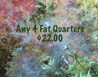 Any 4 Ice Dyed Fat Quarters of Your Choice, Multiple Purchase Discount