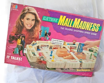 80s Electronic Mall Madness COMPLETE - Vintage board game - Shopping & Talking from Milton Bradley