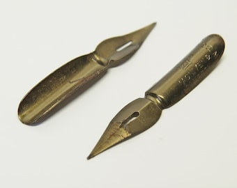 Two Vintage Calligraphy Dipping Pen Nibs - Vintage Nibs
