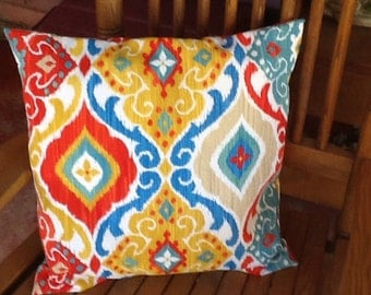 Single outdoor pillow covers, 18 or 16 inch square.