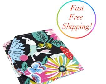 Alice In Wonderland Wallet, Small Womens Wallet, Small Wallet, Travel Wallet, Minimalist Wallet Women, Fabric Wallet, Wallets For Women