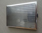 Vintage Silver Cigarette Box  800 silver  C913