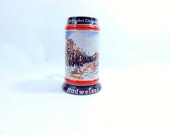 1990s, Budweiser, Vintage Budweiser, Budweiser Stein, Budwiser, Boyfriend Gift, Beer Gifts, Beer Mug, Beer Stein, Anheuser Busch, Mancave