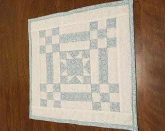 Mini Quilt, Doll Quilt, Candle Mat, Table Topper, Wall Quilt, Handmade, Quilted