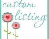 Custom Listing for Angie - Toddler Bedding
