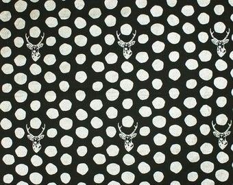 KOKKA ECHINO - Etsuko Furuya - Samber Silver/Black Linen Canvas - Metallic