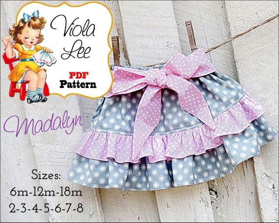 Madalyn Ruffle Skirt Pattern. Ruffle Twirl Skirt Pattern. Girl's Skirt Pattern. pdf Sewing Pattern, Girls pdf Patterns, Sewing Patterns