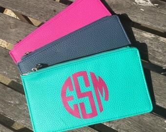 Personalized Monogram Wallet Clutch