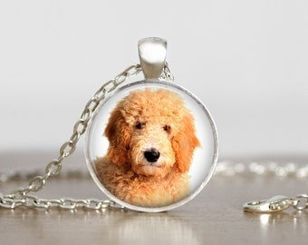 Goldendoodle Pendant Necklace or Keychain