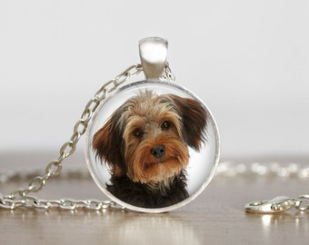 Yorkipoo Pendant Necklace or Keychain