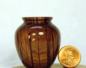 Australian River Oak Turned Wood Miniature Vase